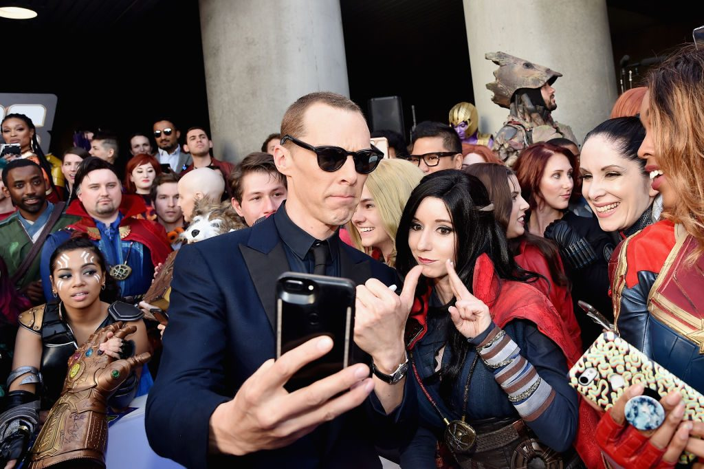 Benedict Cumberbatch attends Audi Arrives At The World Premiere Of Avengers: Endgame on April 22, 2019, in Hollywood, California.