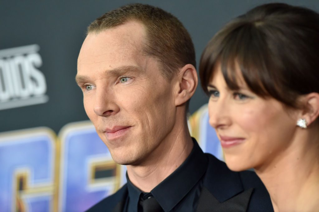 Benedict Cumberbatch and Sophie Hunter attend the World Premiere of Avengers: Endgame at Los Angeles Convention Center on April 22, 2019