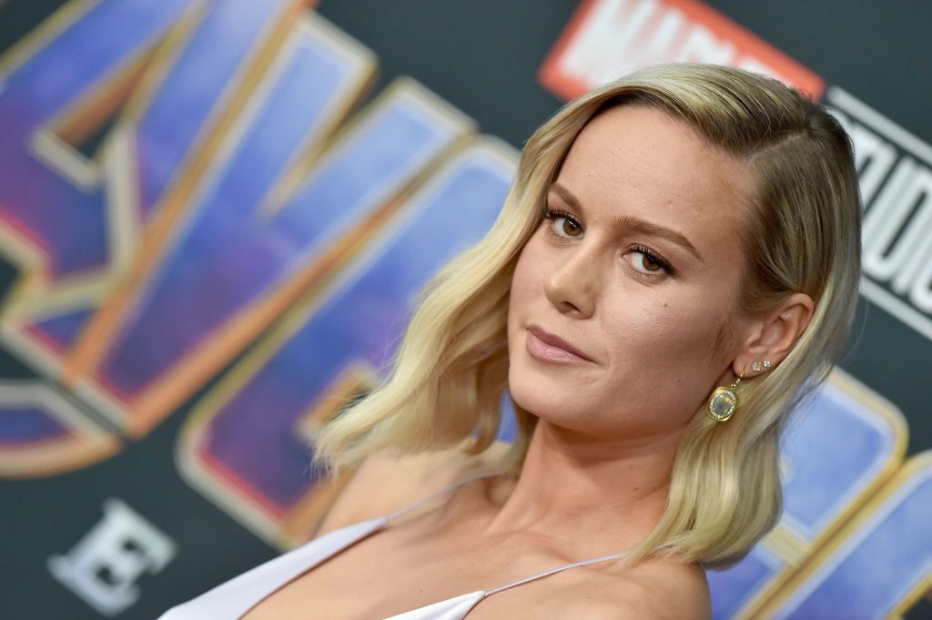 Brie Larson attends the World Premiere of Avengers: Endgame at Los Angeles Convention Center on April 22, 2019.