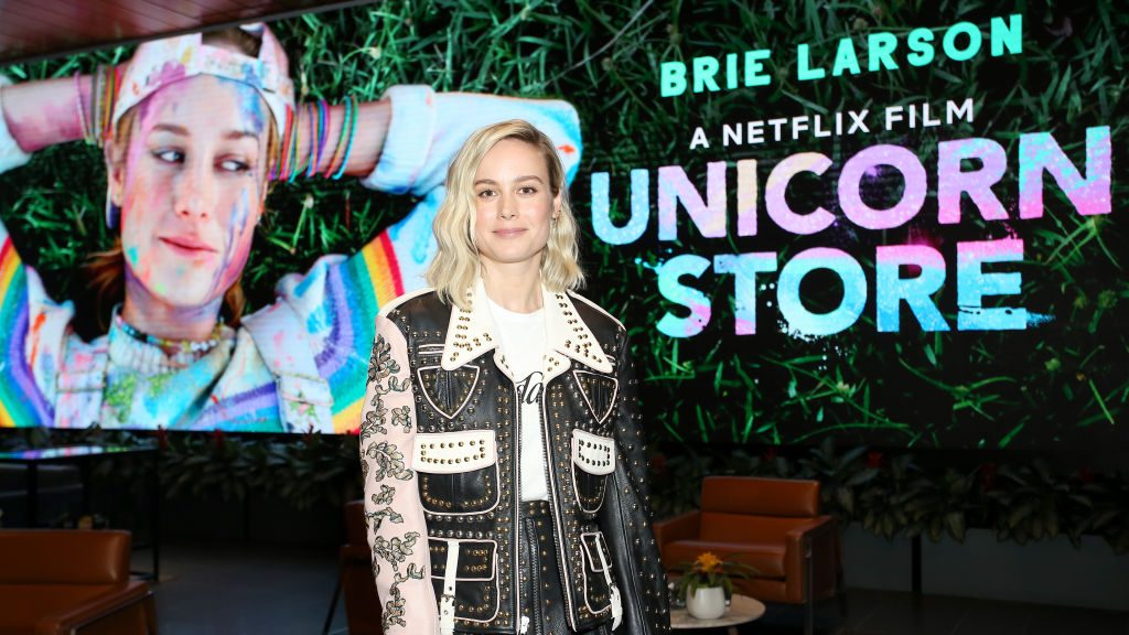 Brie Larson attends 'Unicorn Store' screening