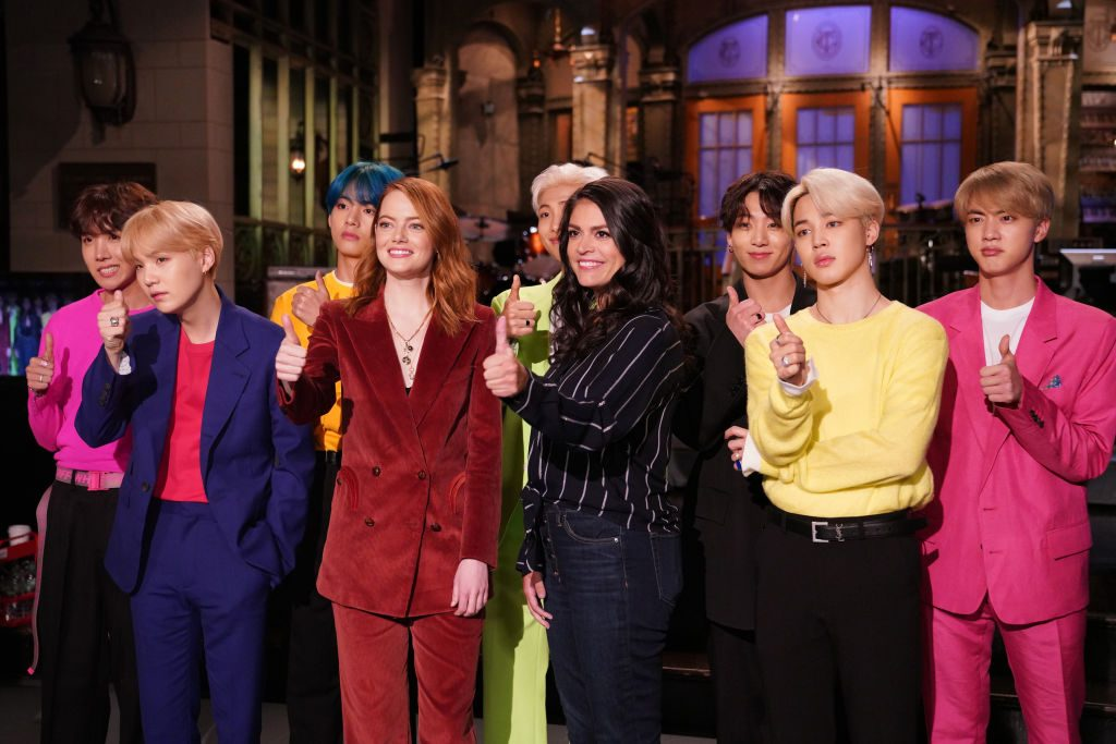 Emma Stone, Cecily Strong, and BTS on Saturday Night Live - Season 44