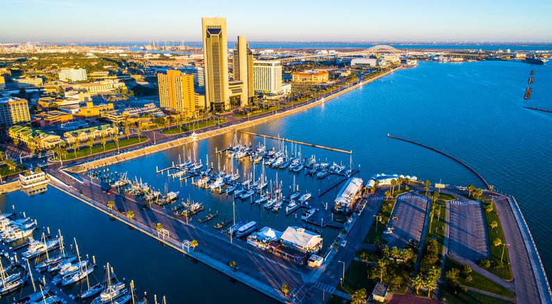 Aerial view of Corpus Christi