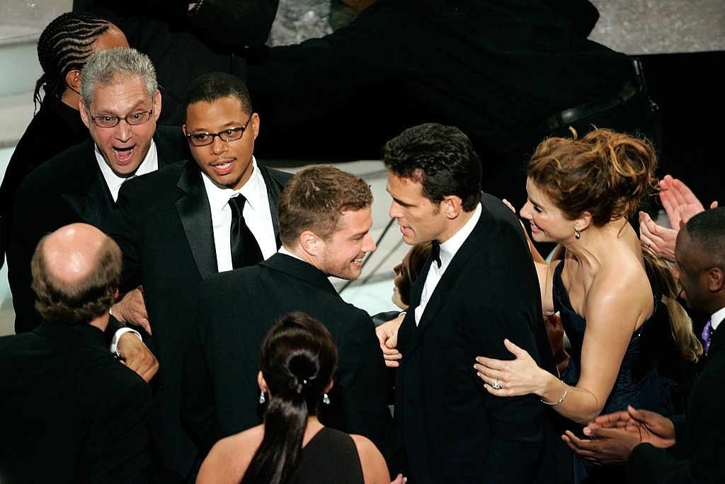 """The cast of """"Crash' at the Academy Awards"""