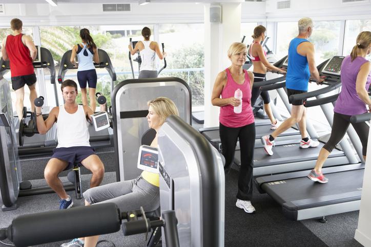 Busy gym