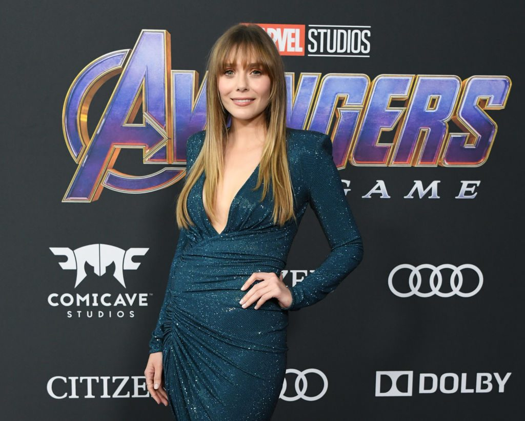 Elizabeth Olsen attends the World Premiere Of Walt Disney Studios Motion Pictures Avengers: Endgame at Los Angeles Convention Center on April 22, 2019