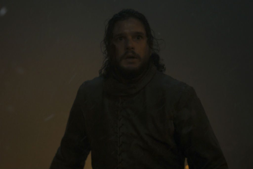 Jon Snow in the Battle for Winterfell in the next episode of 'Game of Thrones'