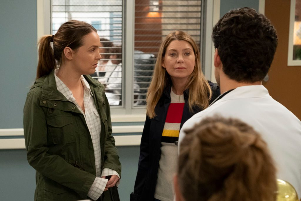 Meredith, Jo, and DeLuca in Grey's Anatomy