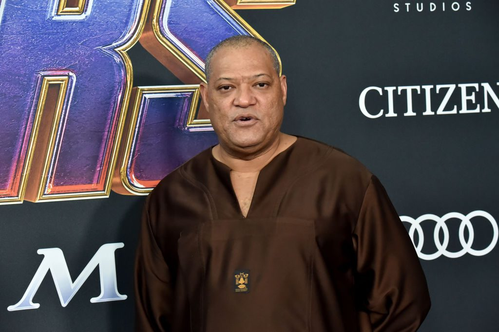 Laurence Fishburne attends the World Premiere of Avengers: Endgame at Los Angeles Convention Center on April 22, 2019