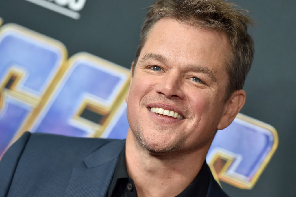 Matt Damon attends the World Premiere of Avengers: Endgame at Los Angeles Convention Center on April 22, 2019