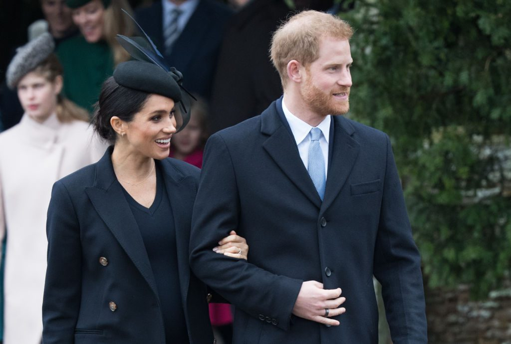 Meghan Markle and Prince Harry The Royal Family Attend Church On Christmas Day