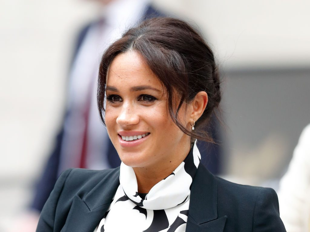 Meghan Markle, Duchess of Sussex attends a panel discussion, convened by The Queen's Commonwealth Trust, to mark International Women's Day at King's College London.