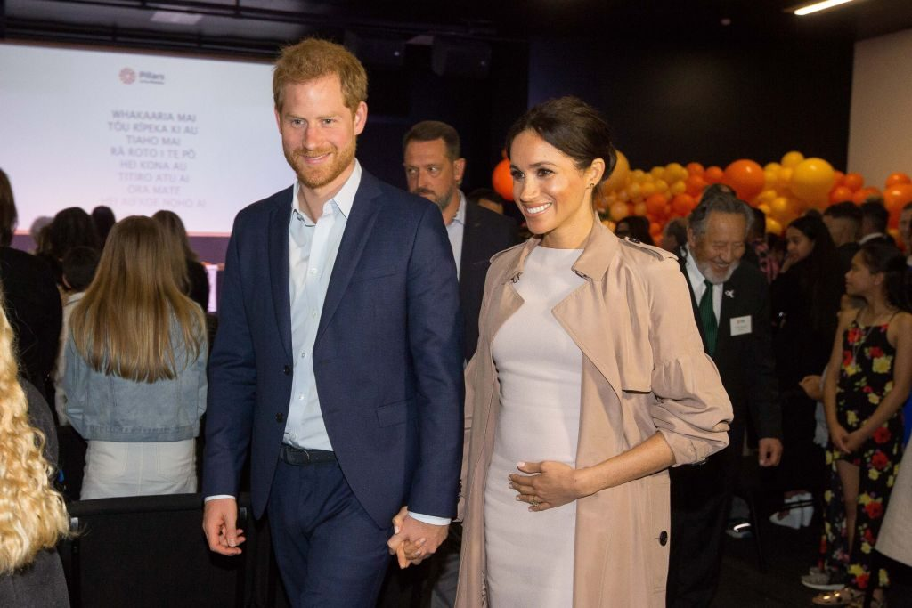 Prince Harry and Meghan Markle arrive for a visit to Pillars, a charity operating across New Zealand