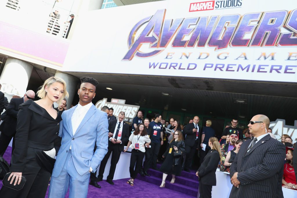 Olivia Holt and Aubrey Joseph attend Audi Arrives At The World Premiere Of Avengers: Endgame on April 22, 2019
