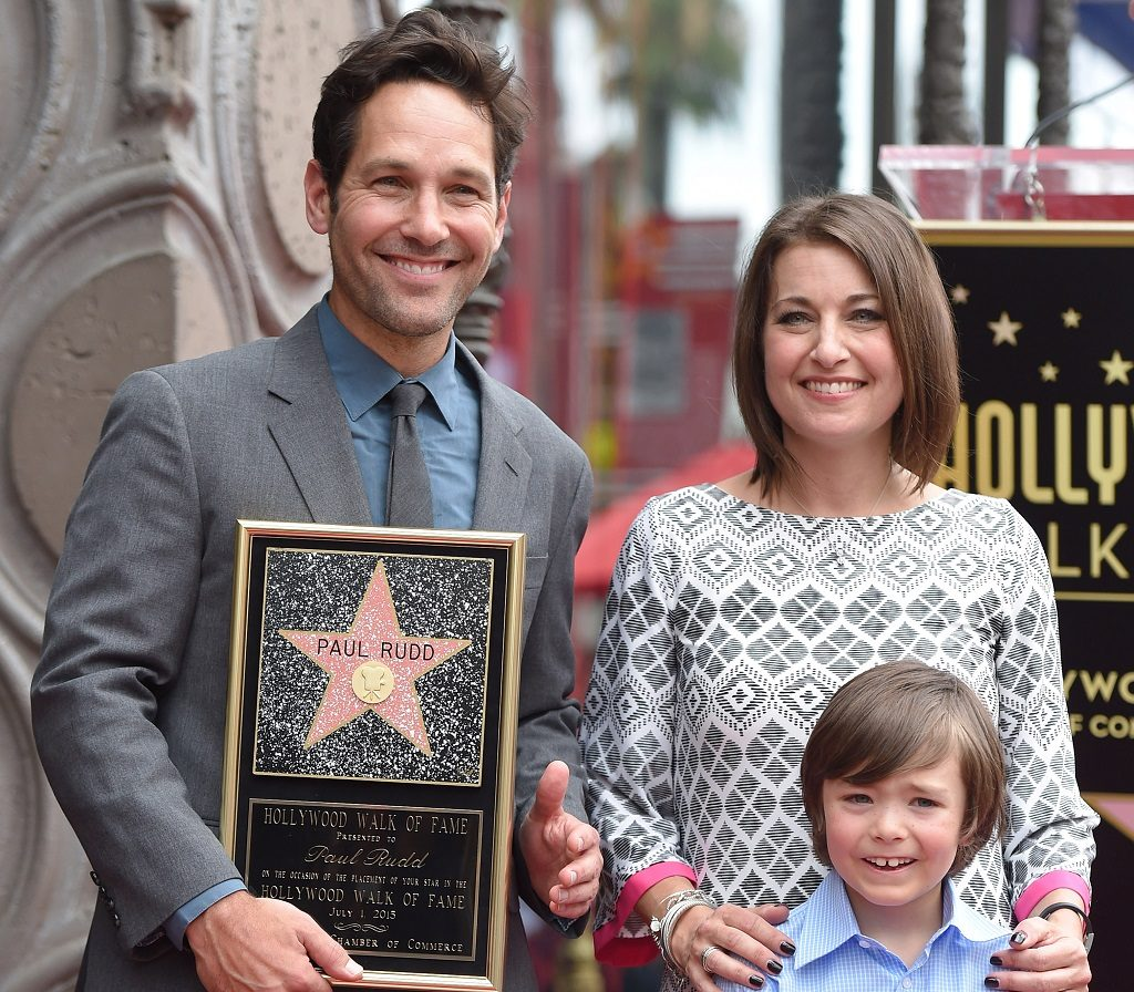 Actor Paul Rudd, sister Mandi Rudd-Arnold and her son