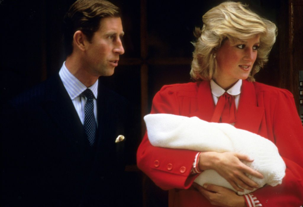 Prince Charles, Princess Diana, and Prince Harry Lindo Wing of St. Mary's Hospital
