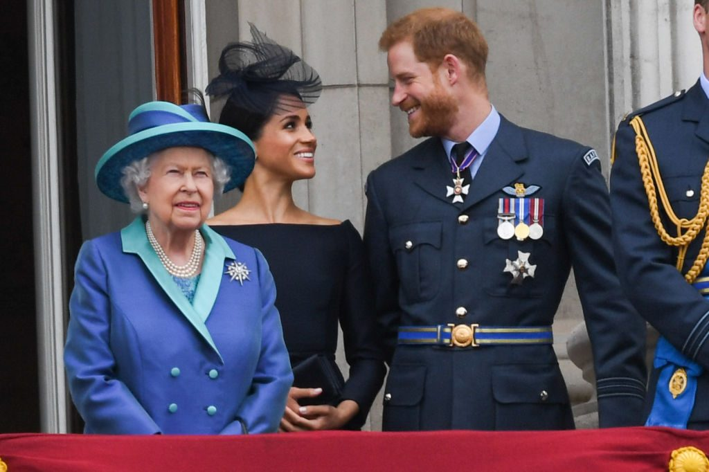 Prince Harry, Meghan Markle, Queen Elizabeth II, Members Of The Royal Family Attend Events To Mark The Centenary Of The RAF