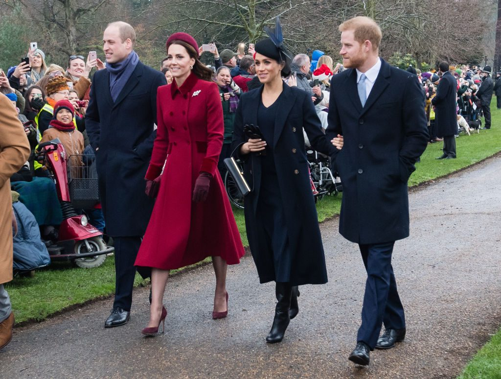 Prince William, Kate Middleton, Meghan Markle, and Prince Harry Attend Church On Christmas Day