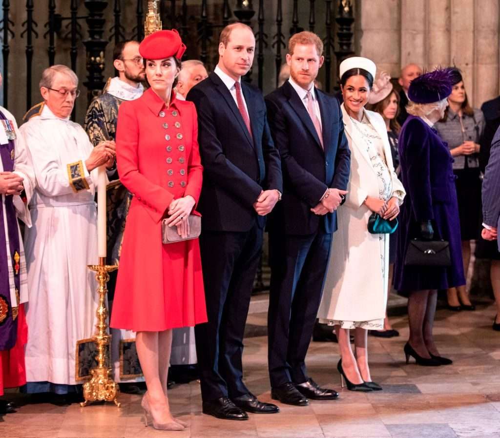 Kate Middleton, Prince William, Prince Harry, Meghan Markle at Commonwealth Day service