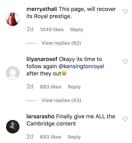 Instagram comment