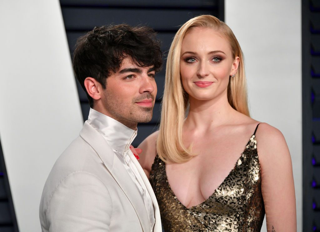 Sophie Turner and Joe Jonas at 2019 Vanity Fair Oscar Party Hosted By Radhika Jones.