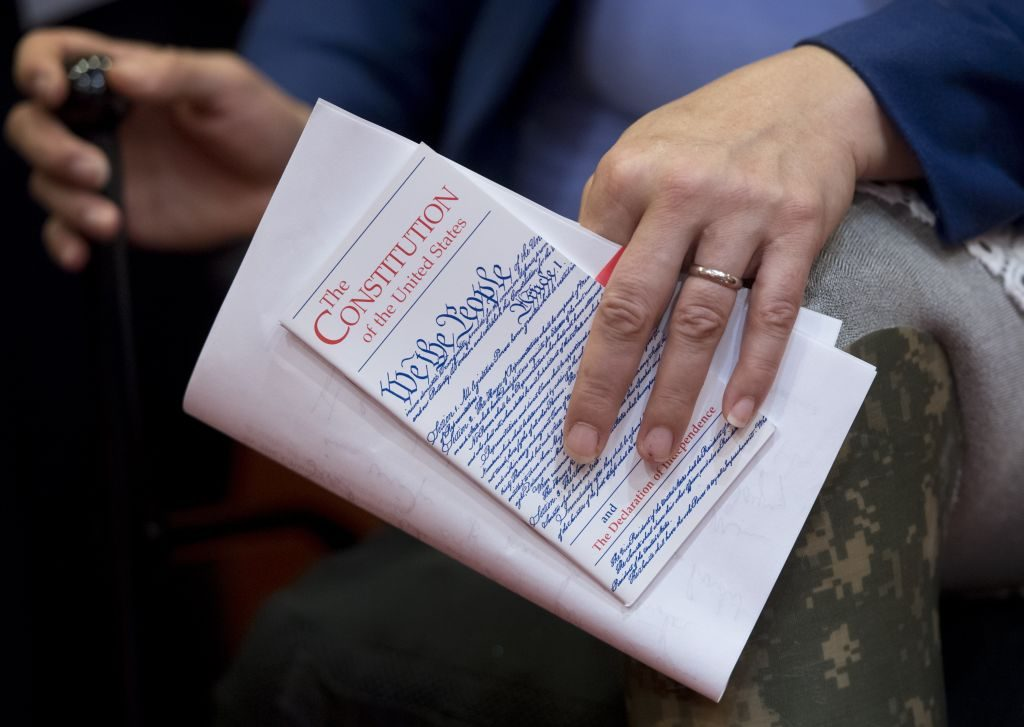 Pocket copy of the U.S. Constitution