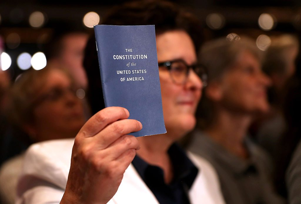 Pocket copy of the US constitution