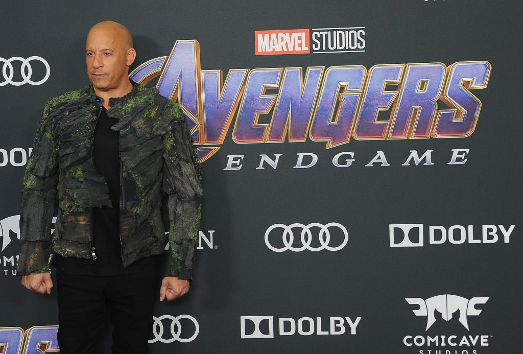 Vin Diesel arrives for the World Premiere Of Avengers: Endgame  held at Los Angeles Convention Center on April 22, 2019