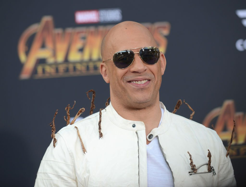 Vin Diesel arrives for the Premiere Of Disney And Marvel's Avengers: Infinity War held on April 23, 2018, in Los Angeles, California.
