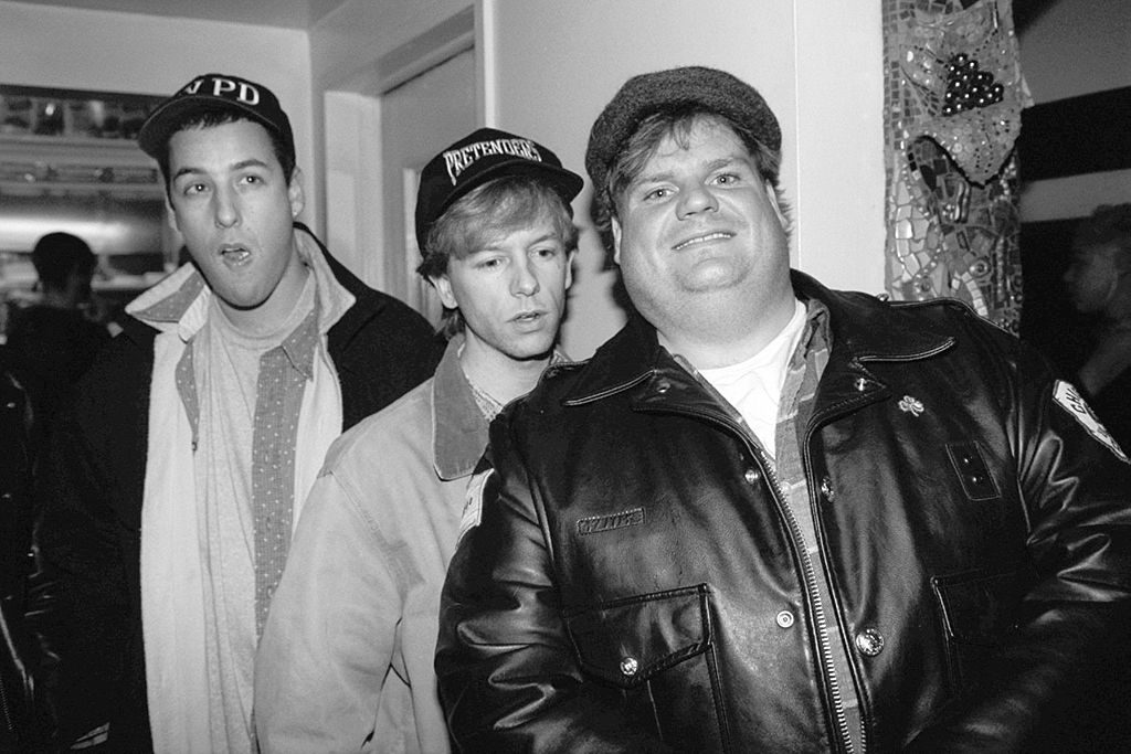 Adam Sandler, David Spade and Chris Farley | Richard Corkery/NY Daily News Archive via Getty Images