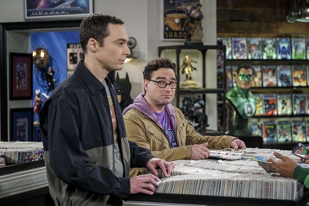 Sheldon Cooper (Jim Parsons) and Leonard Hofstadter (Johnny Galecki). Sheldon