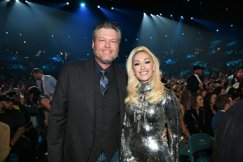 Blake Shelton and Gwen Stefani during the 54TH ACADEMY OF COUNTRY MUSIC AWARDS