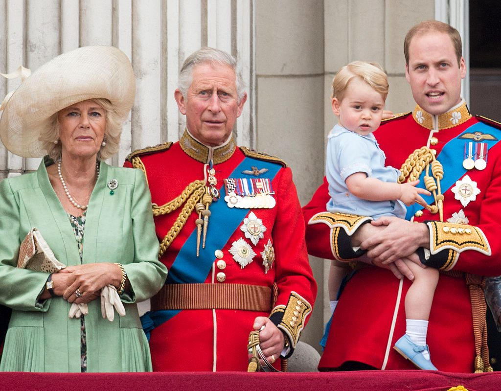Camillla Parker Bowles Prince Charles Prince George and Prince William