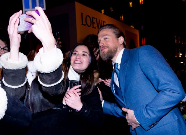 Charlie Hunnam at the 'Triple Frontier' premiere in Spain