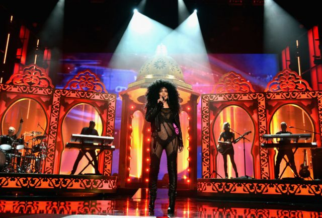 Cher performing at the Billboard Music Awards.