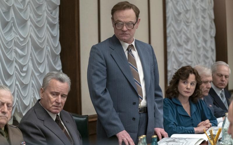 Stellan Skarsgård, Jared Harris, and Emily Watson in Chernobyl
