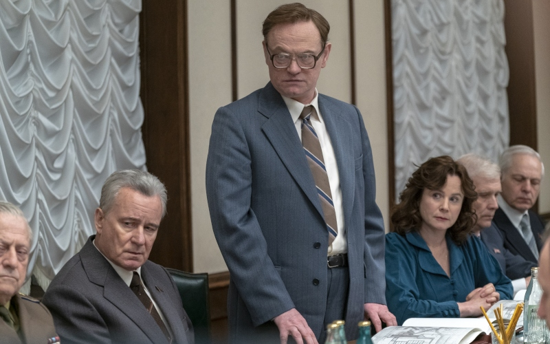 Stellan Skarsgård, Jared Harris, and Emily Watson in Chernobyl