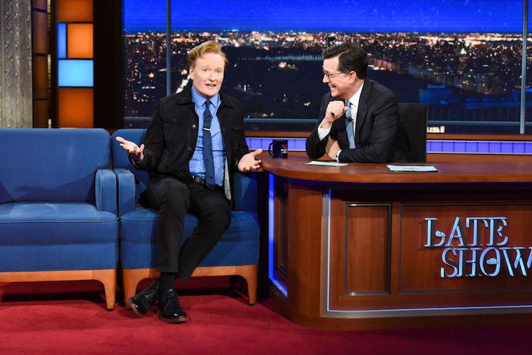 Conan O'Brien and Stephen Colbert