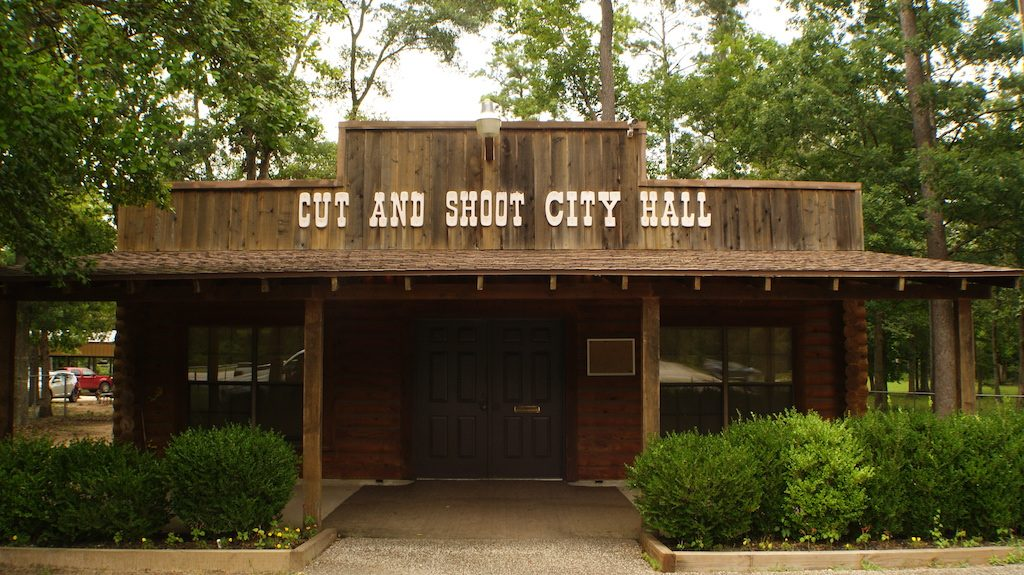The town of Cut and Shoot, Texas