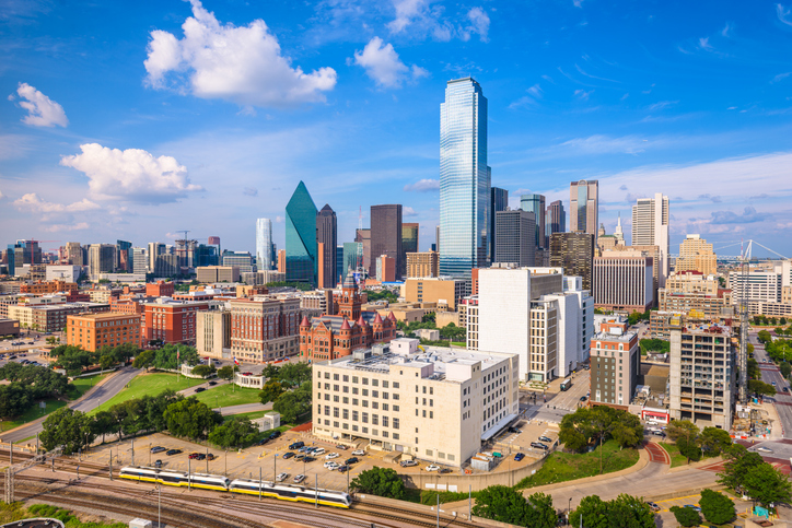 View of downtown Dallas