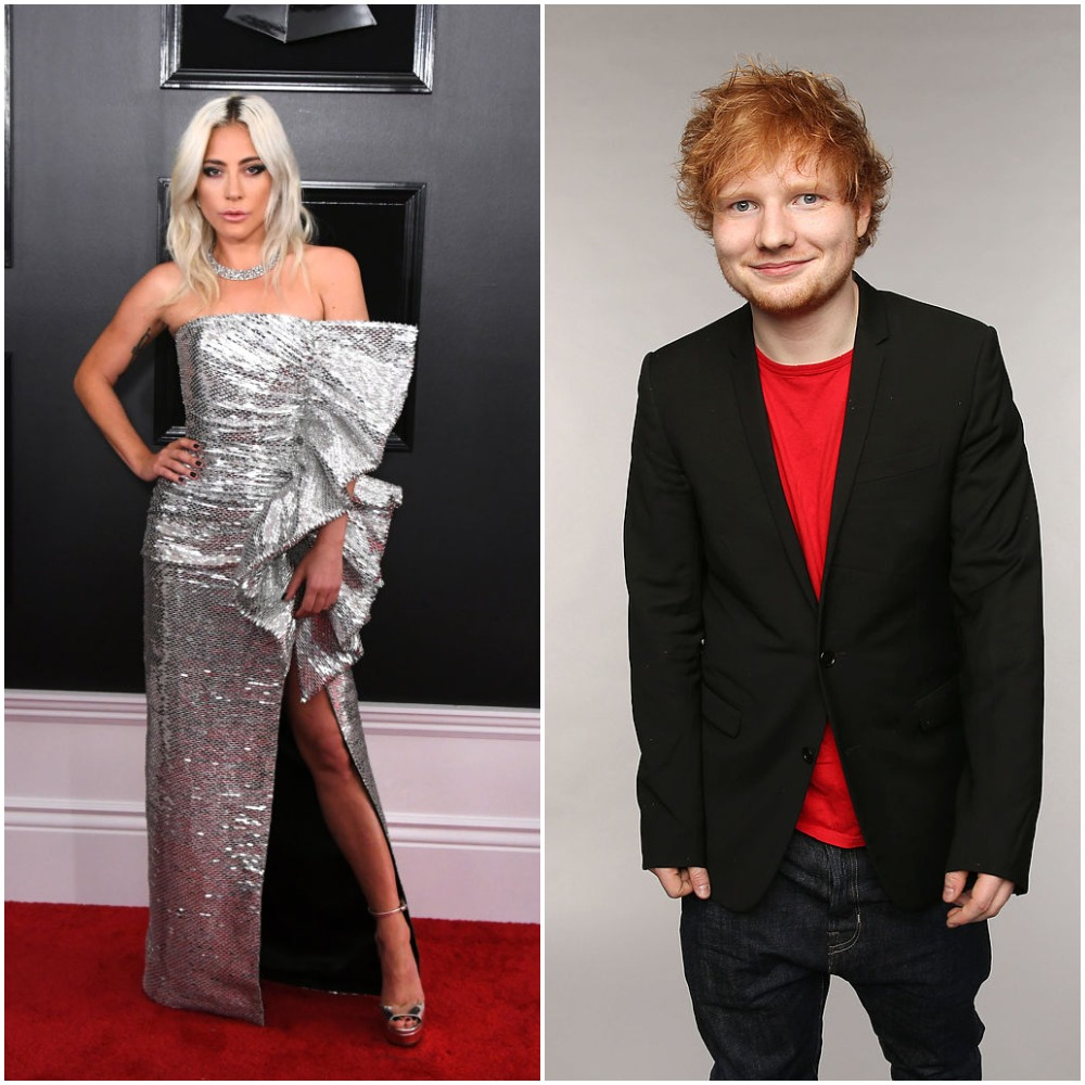 Ed Sheeran and Lady Gaga