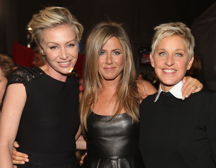 Ellen DeGeneres and Jennifer Aniston