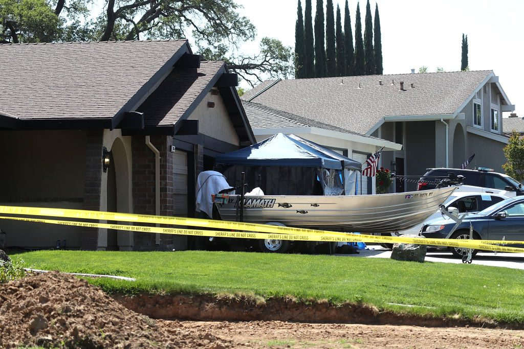 FBI gathers evidence at the home of accused rapist and killer Joseph James DeAngelo.