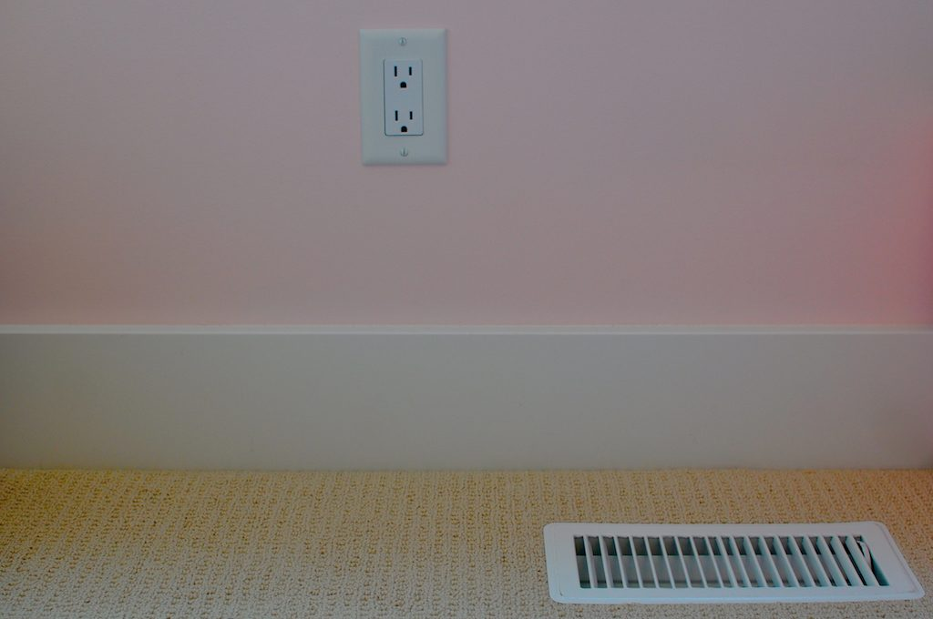 Floor vent in home