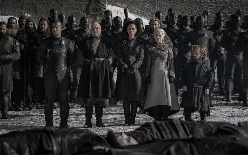 Jacob Anderson, Conleth Hill, Nathalie Emmanuel, Emilia Clarke, Peter Dinklage in Game of Thrones