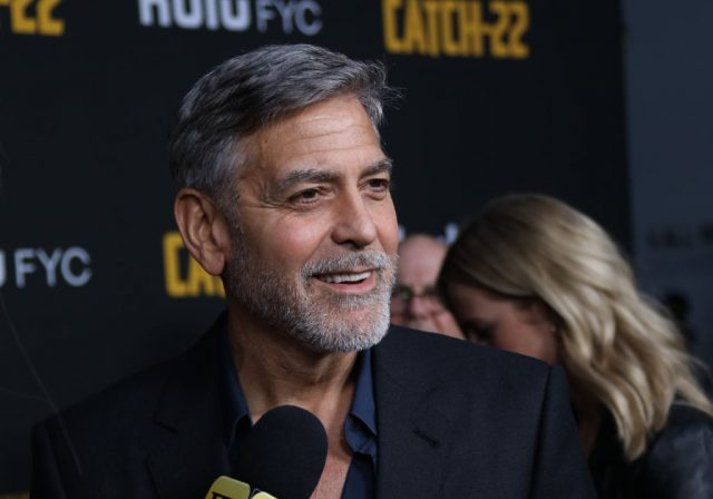 George Clooney at 'Catch-22' premiere.