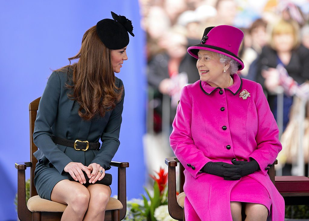 Kate Middleton and Queen Elizabeth II