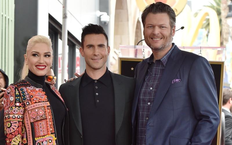 Gwen Stefani, Adam Levine, and Blake Shelton