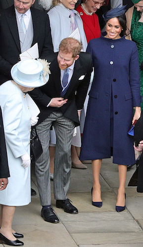 Queen Elizabeth, Prince Harry, and Meghan Markle