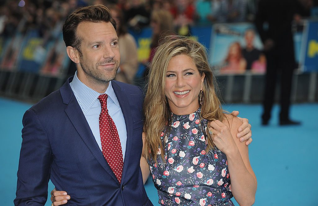 Actors Jennifer Aniston and Jason Sudeikis