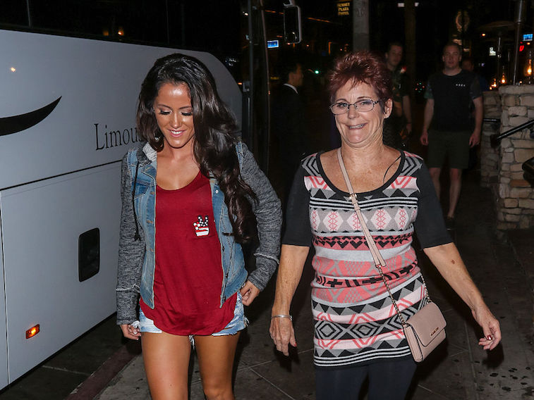 Jenelle Evans and mother